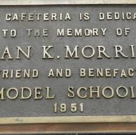 1951 Cafeteria Dedication Plaque  - photo 1