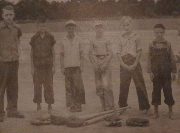 Members of Brighton's Junior Baseball Program