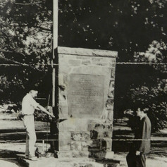 Building of WWII Monument at Shannon's Brighton Mill