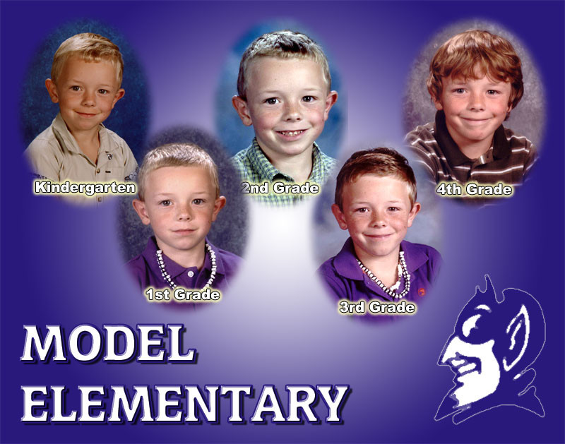 This kind of collage is a great way to show off your child's progress through his or her elementary, middle, or high school careers.