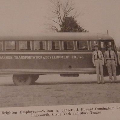 Brighton employees are provided transportation to & from work in the Mill - 1942