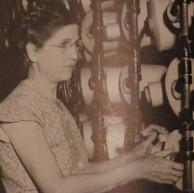 Annie Lacey - creeling a warper to produce Brighton quality fabrics - 1948