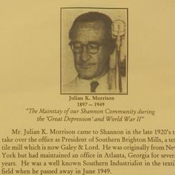 1927 - Mr. Julian K. Morrison - President of Southern Brighton Mills