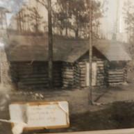 1934 - First Scout Hut in Mountain behind Village