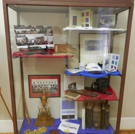 Display Case with items from the Mill