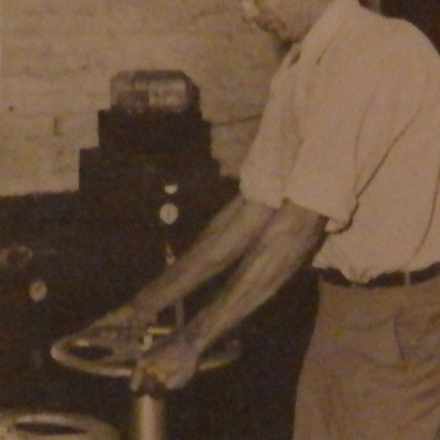 Tom Davis at work at the Water Reservoir - 1946