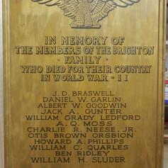 Brighton WWII Memorial Plaque