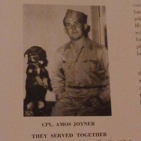 Cpl. Amos Joyner & Jigger - 1945