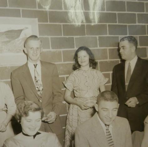 (Back) Sarah Wright, Hoyt Coker, Barbara Law, Ed Kelly - (Front) Clark, Grace Kelly