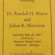 Minor & Morrison Memorial Ceremony