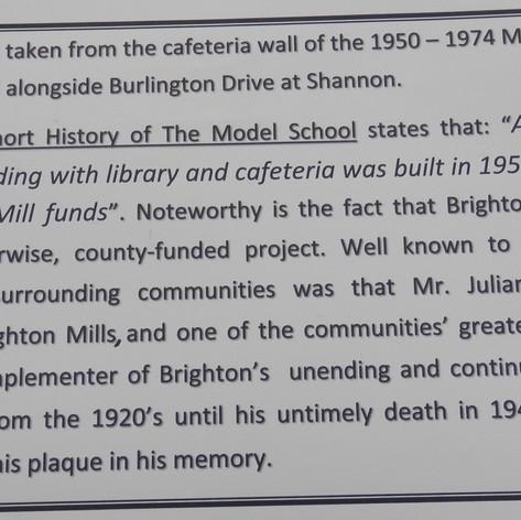 1951 Cafeteria Dedication Plaque - photo 2