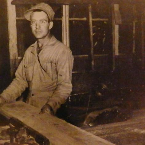 Euras Bagley, carpenter foreman for the Village - 1947