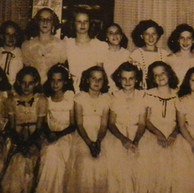 Girl Scouts' formal party - 1947