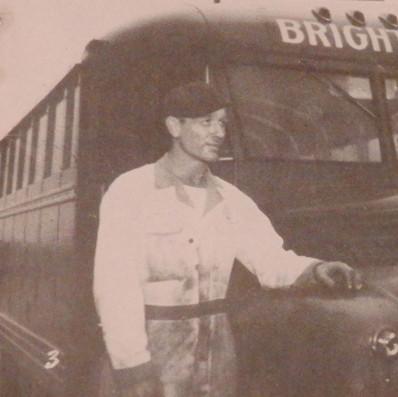 Bill McKellar is a mechanic with Brighton's Transportation Company - 1945