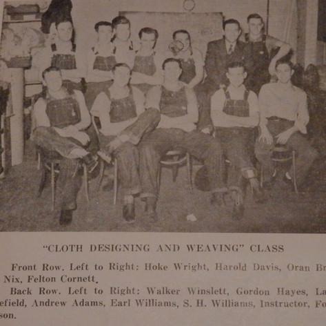 Cloth Design & Weaving Class - 1940