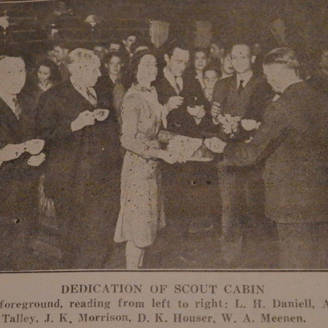 Dedication of Scout Cabin at Shannon