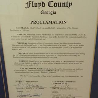 Model School Proclamation - 2002