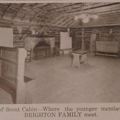 Interior of Scout Cabin - 1943