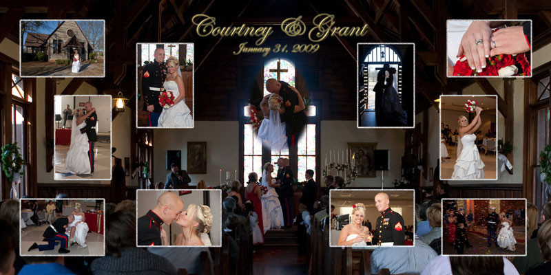 This is a collage we did for clients of Steve St Clair's Highlights Photography in Rome, Ga.