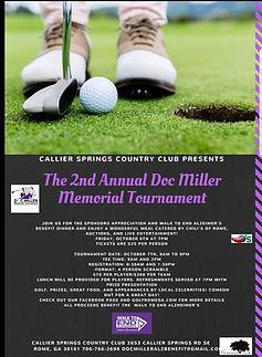 Doc Miller Memorial Tournament flyer