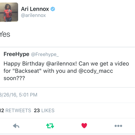 "Ari Lennox Confirms Video for ""Backseat"" featuring Cozz is on the way"