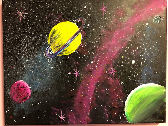 March Break: Space Paint Day