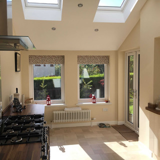 Velux roof lights in pitched ceiling