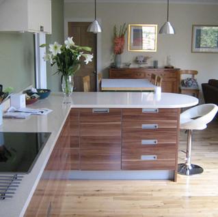 Open plan kitchen family room