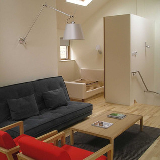 Mews open plan living with voided ceiling