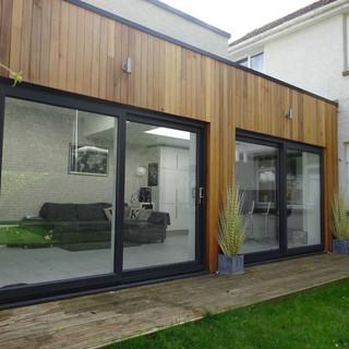 Open plan family room to private garden