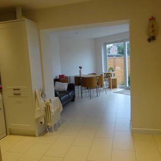 Family room accessed from kitchen