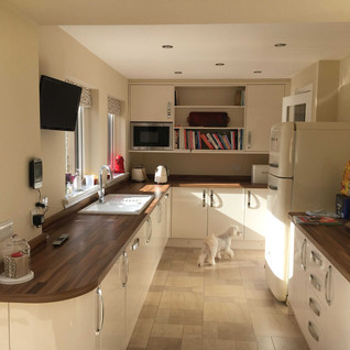 Open plan kitchen with natural light