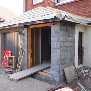 New porch access