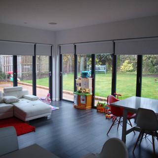 Open plan living area with garden access
