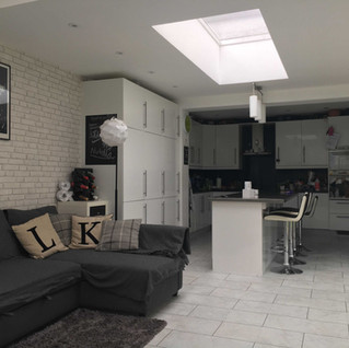 Open plan kitchen with space for the kids