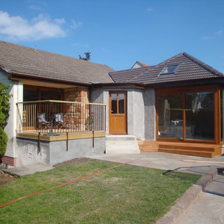 Open plan lounge and garden terrace