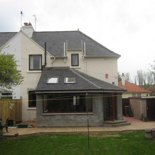 Kitchen extension with garden access