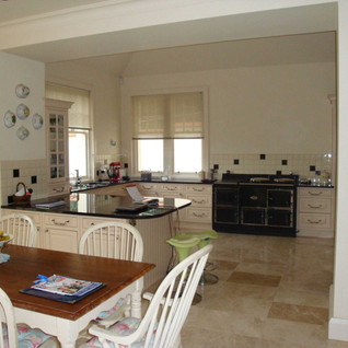 Open plan kitchen and informal dining