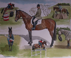 Montage in watercolour