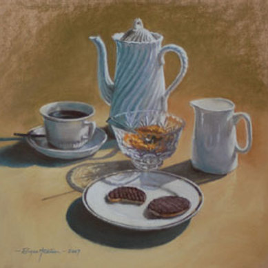 Brown - pastel still life