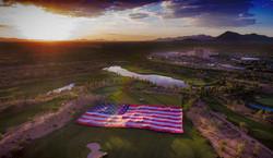 KISS, USA flag @ Casino Del Sol