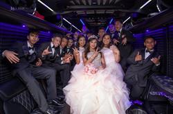 Luxury 20 passenger limo bus