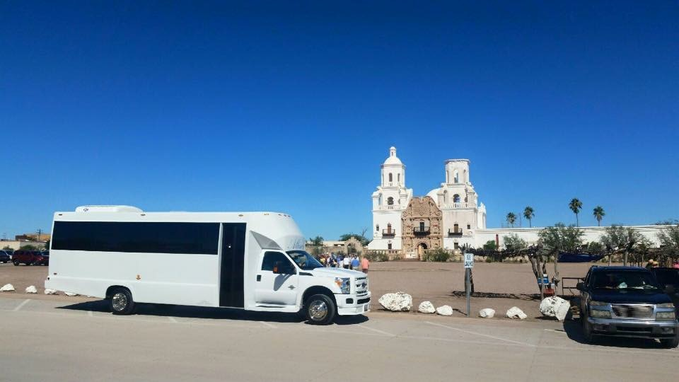 Party bus @ San Xavier Mission