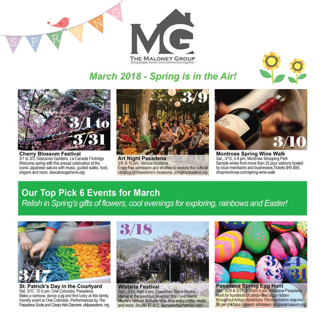 OUR TOP 6 PICK EVENTS FOR MARCH