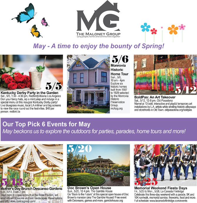 OUR TOP 6 PICK EVENTS FOR MAY