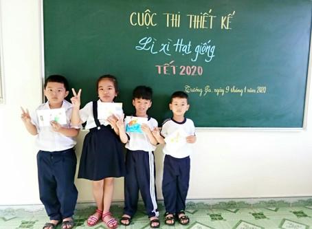 Trường Sa: Các em nhỏ háo hức lần đầu tặng Lì xì Hạt giống cho bố mẹ