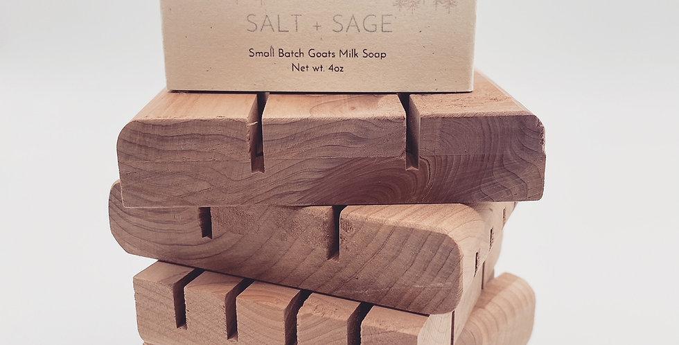 Handcrafted Cedar Soap Tray
