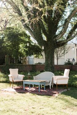 vintage rental seating