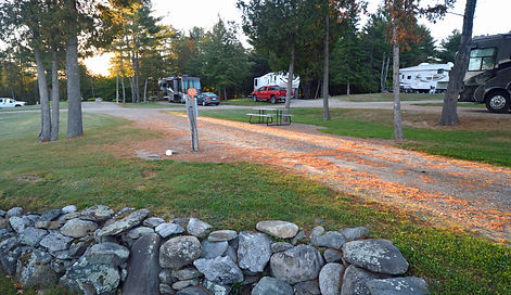 Level and spacious RV sites in Maine