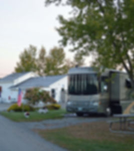 Large, pull through, level RV sites available